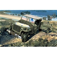 Willys MB Jeep + trailer 1/72